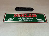 "VINTAGE SINCLAIR NO SMOKING AT PUMPS DINO 16"" PORCELAIN METAL GASOLINE OIL SIGN!"