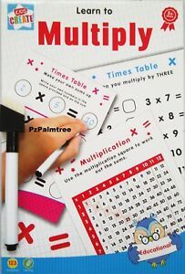 Educational Wipe Clean Learn to Multiply Times Tables Book Numbers Worksheet