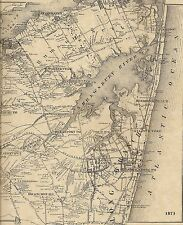 Rumson Little Silver Fairhaven Monmouth NJ 1873 Maps with Homeowners Names Shown