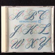 Floral Alphabet Embroidery Designs Card #26 Janome 8000 9000 Elna Kenmore