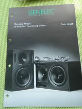 Genelec 1032A Data Sheet