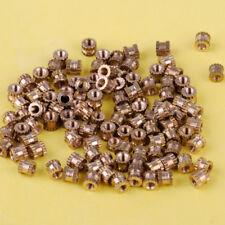 100x M2 Einpressmutter Innengewinde Messing Embedded Rändelmutter Knurled Nuts