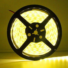 5 Meter 16.4FT 5050-SMD Amber Yellow Non-Waterproof Flexible LED Strip Light 12V