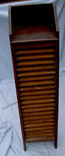 PickUpOnly 1920s Unsigned National Geographic Slotted Wood Bookcase