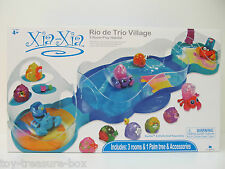 Xia Xia Pet Rio De Trio Village - Great Playset w/ Three Room Habitat - Ages 4+