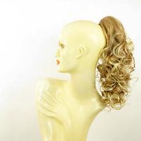 Postiche queue de cheval femme bouclé 40 cm blond clair cuivré blond 3 en 27t613