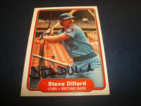 Steve Dillard Cubs Red Sox  1982 Fleer #594 Signed Authentic Autograph Card A9