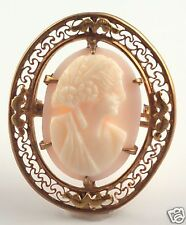 Brooch - Vintage! 14kyg Conch shell Cameo