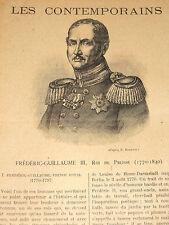 Frédéric-Guillaume III 1770-1840 ROI DE PRUSSE Potsdam Hohenzollern