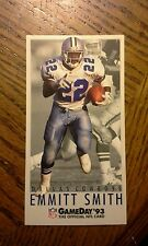 1993 Fleer GameDay #22 Emmitt Smith Dallas Cowboys Football Card