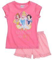 Girls Pyjamas Short Sleeve T-Shirt Shorts Set New Official 2016 Age 2-12 Years