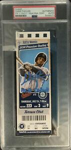 DODGERS CHRIS TAYLOR SIGNED MLB DEBUT 07/24/2014 TICKET STUB PSA SLABBED 9A48573
