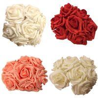 5x 7 Heads Bunch Rose Silk Flowers Artificial Rose Wedding Party Bridal Bouquet