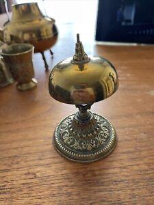 Antique Hotel Shop Brass Counter Top Bell