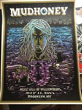 🔥 SIGNED MUDHONEY BROOKLYN NY May 11th 2013 #/80 AE Poster Print Pearl Jam