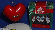 Hallmark Ornament Heart of Christmas #2 1991 Getting the Tree Heart Opens Used