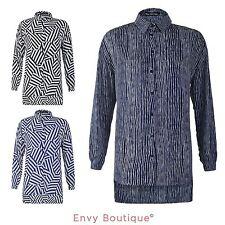 Chiffon Blouses Striped Tops & Shirts for Women
