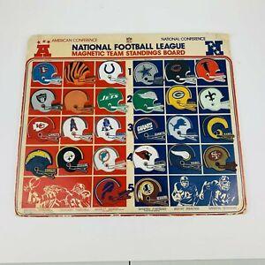 RARE VINTAGE 26 football teams NFL 1975 refrigerator magnets on display card