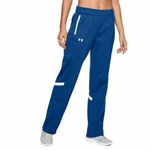 NWT UNDER ARMOUR Women's  Qualifier Warm Up Pants Blue/White 1270483 Size L