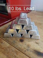10 lbs. Lead Ingots Ultra Clean for Sinkers Jigs Bullets Reloading