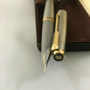 Parker 50 Falcon Bursh steel GT Steel Broad nib+Convet. NEW USA BOX