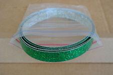 (2) ORIGINAL 60's GRETSCH GREEN SPARKLE HOOP INLAYS for BASS & DRUM SET!!! #C579