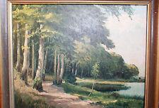 Ewald Oesinghaus Bordesholmer See Impressionismus Neumünster Landschaft Öl