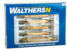 Walthers New Logo TTX Double Stack 5 unit car 929-8107 N scale 72888
