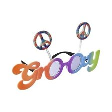 Fun Shades Psychedelic Groovy 60's/70's Tinted Peace Sign Party Glasses 250476