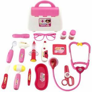 16× Children Kids Role Play Doctor Nurse Learning Toys Set Medical Kit Xmas Gift