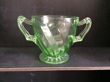 Hocking Glass Green Sugar Bowl