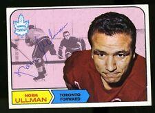 1968-69 Topps #131 NORM ULLMAN Autograph/Auto Card Toronto Maple Leafs