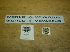 Schwinn Complete Black World Voyageur Bicycle Downtube Decal Set