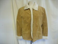 "Ladies Jacket Leather, UK 16, faux fur lining, length 27"", used once 7635"