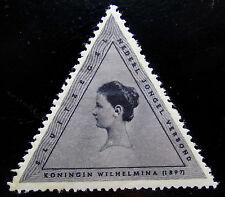 NED Sluitzegel Driehoek Wilhelmina 1897 Nederlandsch Jongelings Verbond
