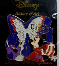 Disney Japan Pin * History of Art - Sorcerer Mickey Fantasia 1940 * LE 1600