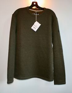 Smartwool Men's Hudson Trail Crew Sweater, Military Olive, Large, NWT