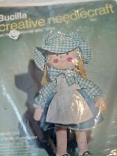 "2 Brucilla Needle Craft Doll Pattern Kits. ""Gingham Girl"" And Judy Jump Rope"