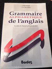 Grammaire Alphabétique De L'anglais - Lycées Et Classes Préparatoires
