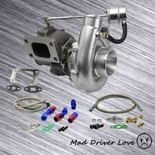 T3/T4 .63A/R TURBO CHARGER V-BAND DP 8PSI INTERNAL WASTEGATE +OIL FEED RETURN