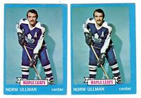 1X NORM ULLMAN 1973 74 Topps #148 EX Lots Available Maple Leafs