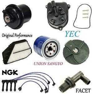 Tune Up Kit Filters PCV Cap Rotors Wires FIT Honda Accord DX; LX;2.2L 1994-1996