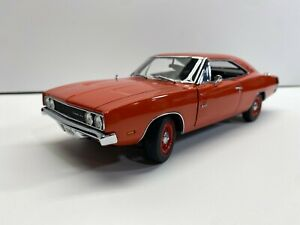 Danbury Mint 1:24 Scale LE 1969 Dodge Charger 500 Orange New In the Box Diecast
