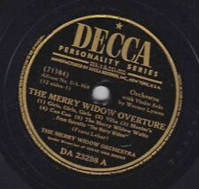 Decca DA-364 Disc 23298 MERRY WIDOW OR: Overture/CARLISLE & EVANS: Finale; V-