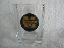 """1"""" Bottle Cap Image Shot Glass ~ Handcrafted ~ **Gift Idea ~ Wolverines"""