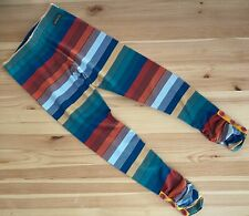 MATILDA JANE Moments With You Outside The Lines Stripe Leggings Size 10 EUC