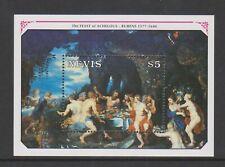 Nevis - 1991, 350th Anniversary of Rubens sheet - MNH - SG MS577