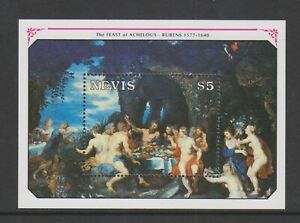 Nevis - 1991, 350th Anniversary of Rubens sheet - MNH - SG MS577