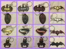 Key Ring Batman Superman Spiderman Darth Vader Super Hero Star Wars Metal Marvel