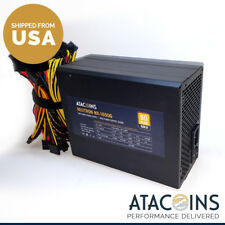 1600W 110v-240v Non-Modular PSU Power Supply w/14awg Power Cord Mining ETC